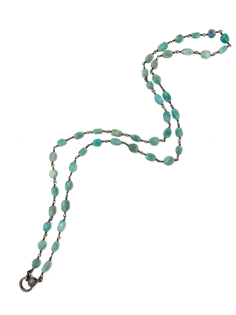 Amazonite Chain with Diamond Clasp