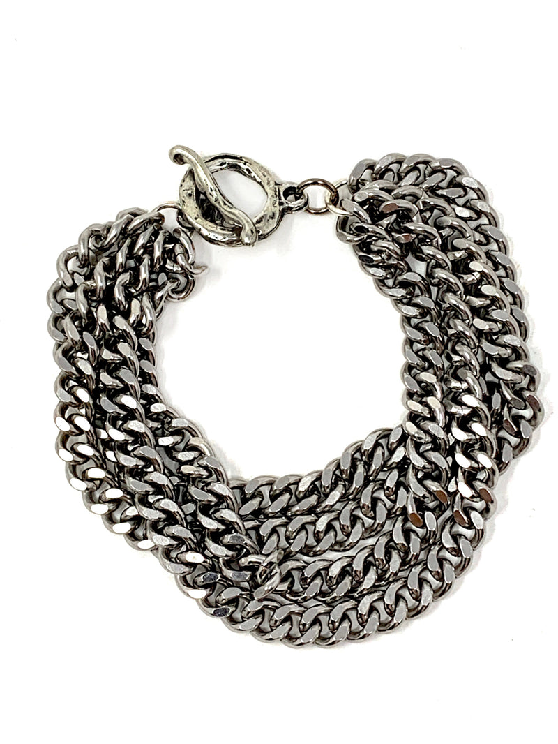 Multiple Curb Chains Bracelet