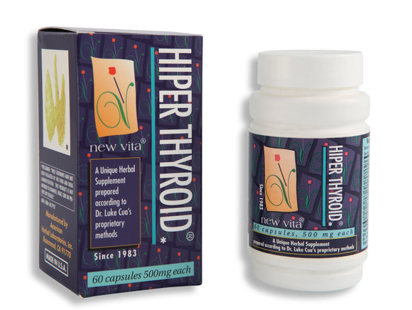 Hiper Thyroid-Natural herbal supplement-newvita