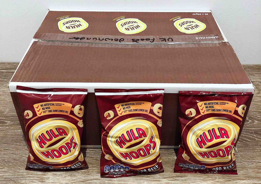 Hula Hoops BBQ Beef 32 Pack Box