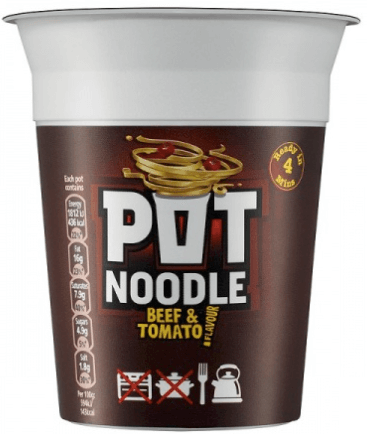 Pot Noodle Original Beef and Tomato Flavour