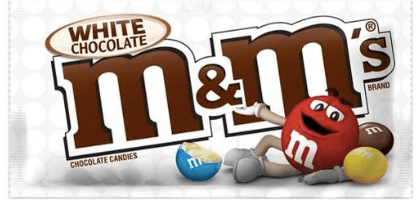 White Chocolate M & M's