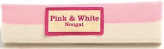 Pink and White Nougat Bar