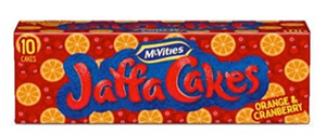 McVities Orange and Cranberry Jaffa cakes - Limited Edition for xmas 2020
