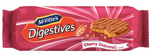 McVities Cherry Bakewell Digestives NEW
