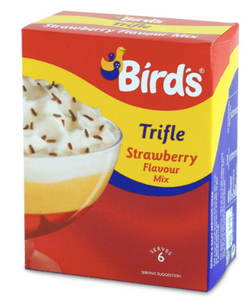 Birds Strawberry Trifle