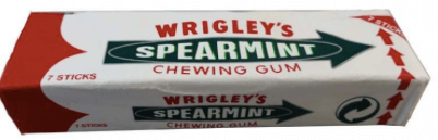 Wrigley's Spearmint Chewing Gum 7 Stick