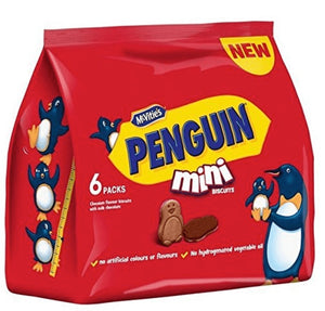 McVities Penguin Mini 6 Pack Biscuits NEW