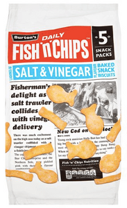 Burtons Fish 'N' Chips Salt and Vinegar Multipack Crisps