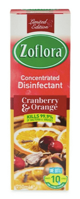 Zoflora Cranberry and Orange 250ml - makes 10 litres of disinfectant!