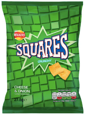 Squares Cheese and Onion