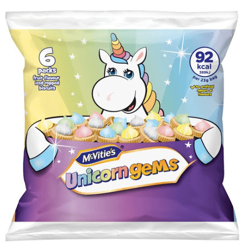 McVities Unicorn Iced Gems NEW