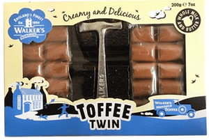 Walkers Original Toffee Twin Christmas Pack with Toffee Hammer