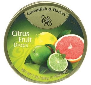 Cavendish and Harvey Citrus Fruit Drops Tin