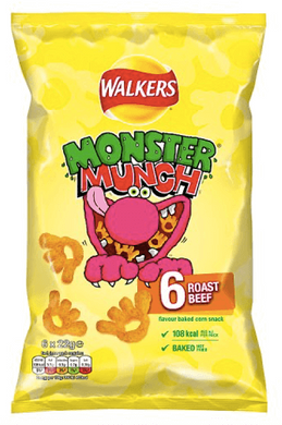 Roast Beef Monster Munch Multi Pack Crisps