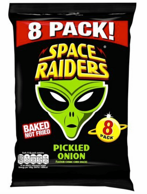 Space Raiders Pickled Onion 8 Pack Multi bag