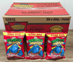 Monster Munch Flaming Hot Flavour 30 pack Box