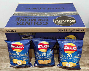 Walkers Cheese and Onion 32 Pack Box