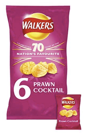 Walkers Crisps Prawn Cocktail multibag