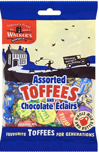 Walkers Assorted Toffees and Chocolate Eclairs