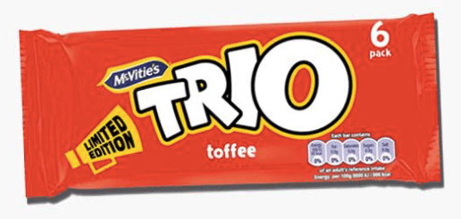 Trio Toffee Biscuits