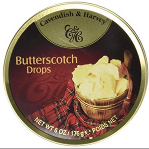 Cavendish and Harvey Butterscotch Drops Tin