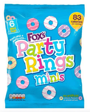 Fox's Party Rings Mini 6 Pack Biscuits NEW