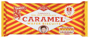 Tunnock's Milk Chocolate Caramel Wafers 8 pack