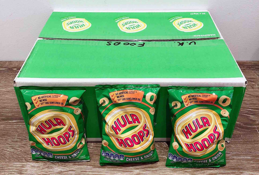 Hula Hoops Cheese and Onion 32 Pack Box