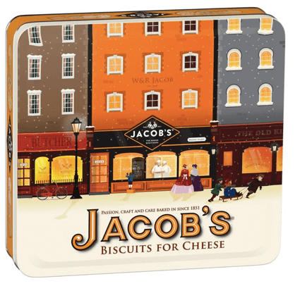 Jacobs Biscuits for Cheese Christmas Tin