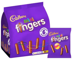 Cadbury's Mini Fingers 6 Pack Biscuits NEW
