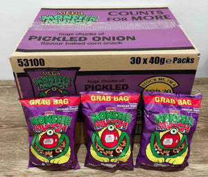 Monster Munch Pickled Onion Flavour 30 pack Box