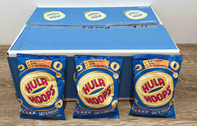 Hula Hoops Salt and Vinegar 32 Pack Box