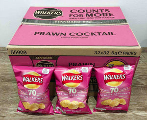 Walkers Prawn Cocktail Flavoured Crisps 32 Pack Box