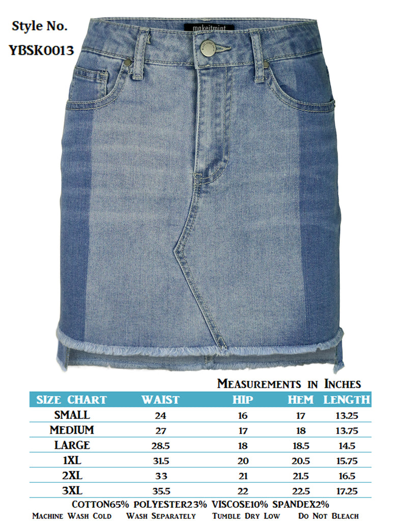 e1e1908838 Denim Mini Skirt Size 16 | Saddha