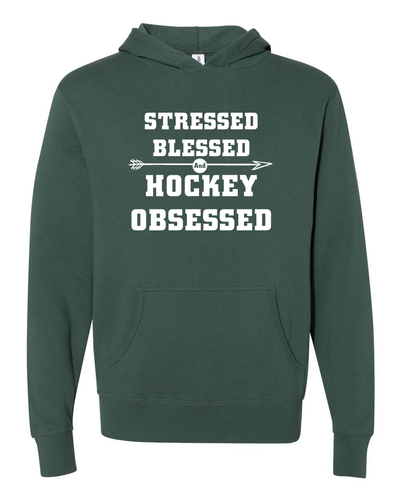 Stressed Blessed Hockey Obsessed Hoodie