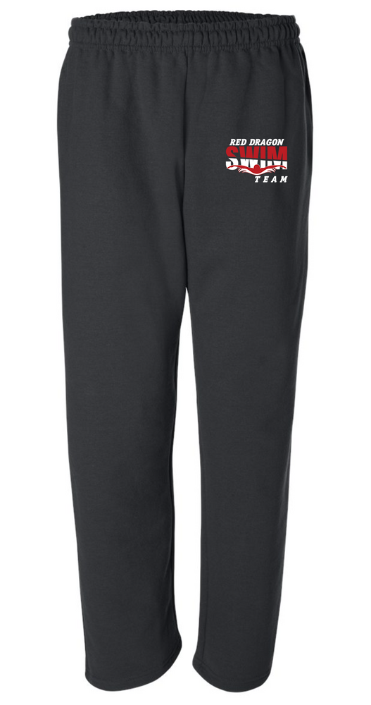 Unisex 50/50 Cotton/Poly Open Bottom Sweatpants with Pockets