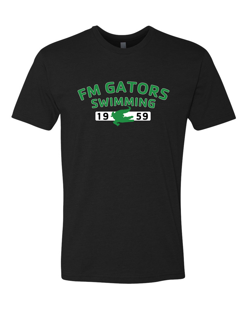 Gator Black Short Sleeve Cotton/Polyester T-shirt