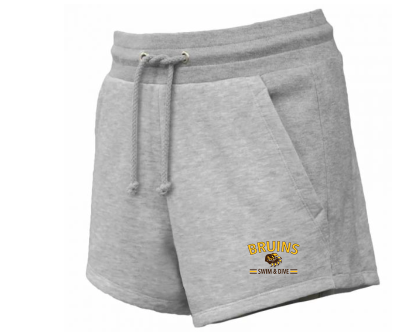 Bruins Ladies' Fleece Shorts with Pockets