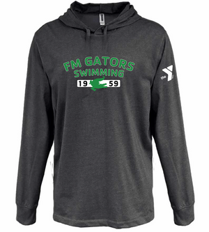 Gator Heather Black Jersey Hoodie