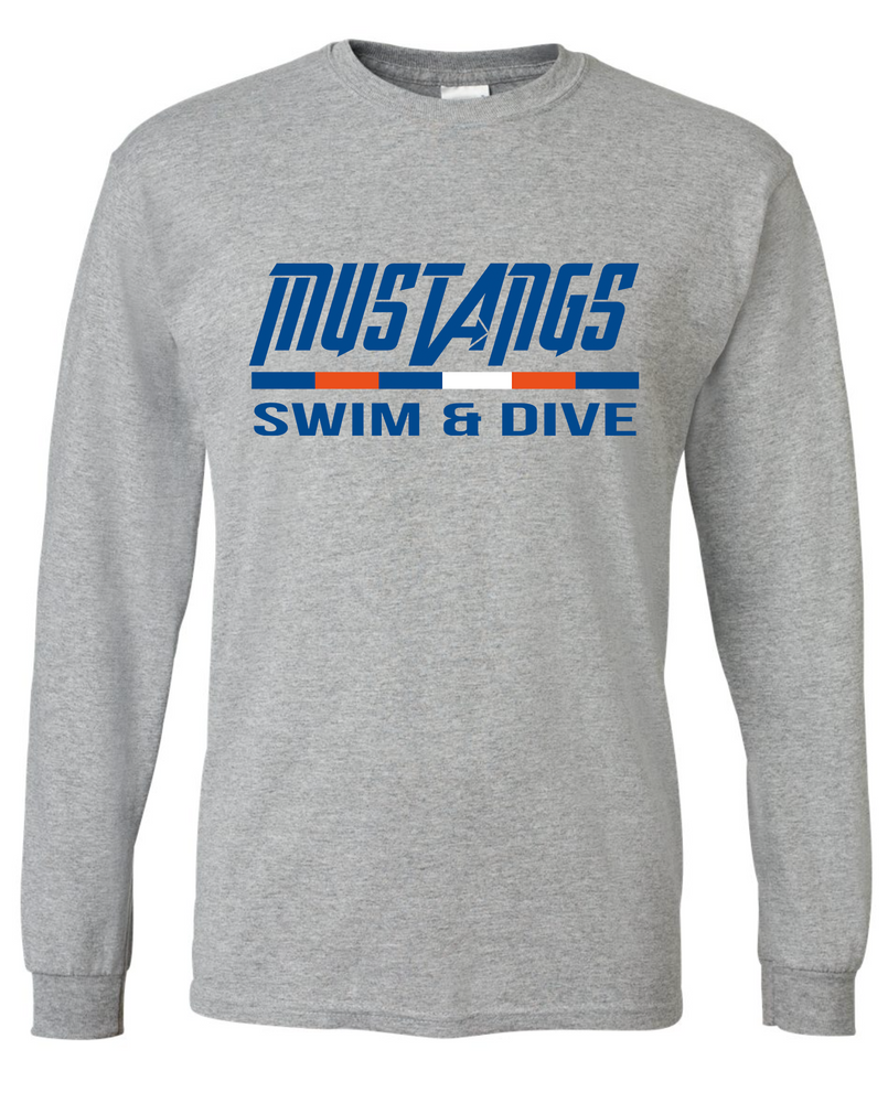 Mustang Long Sleeve Cotton/Poly T-shirt (Alt. Design 2)