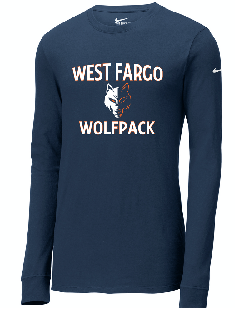 Wolfpack Adult Nike Core Cotton Long Sleeve T-shirt