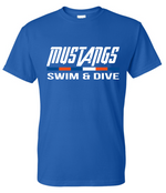 Mustang Short Sleeve Cotton/Poly T-shirt (Alt. Design 2)