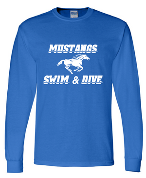 Mustang Long Sleeve Cotton/Poly T-shirt