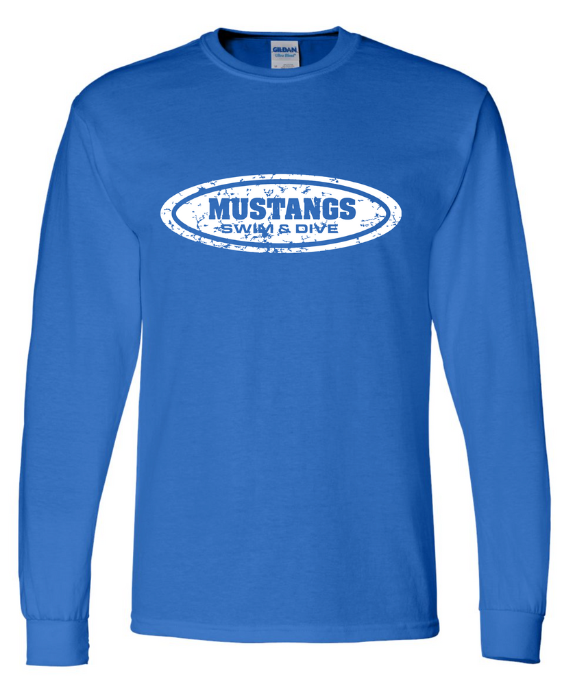 Mustang Long Sleeve Cotton/Poly T-shirt (Alt. Design 1)