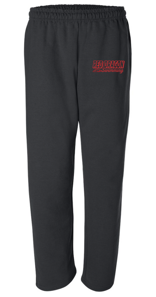 Unisex 50/50 Cotton/Poly Open Bottom Sweatpants with Pockets (Alt. Design 1)