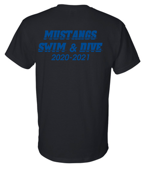 Mustangs Team T-shirt (Cotton/Poly Option)