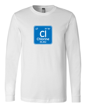 Chlorine Chemical Element Long Sleeve T-shirt