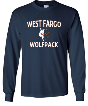 Youth Wolfpack Cotton/Poly Long Sleeve T-shirt