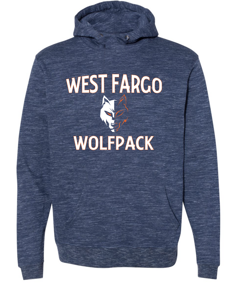 Wolfpack Adult Melange Hooded Sweatshirt